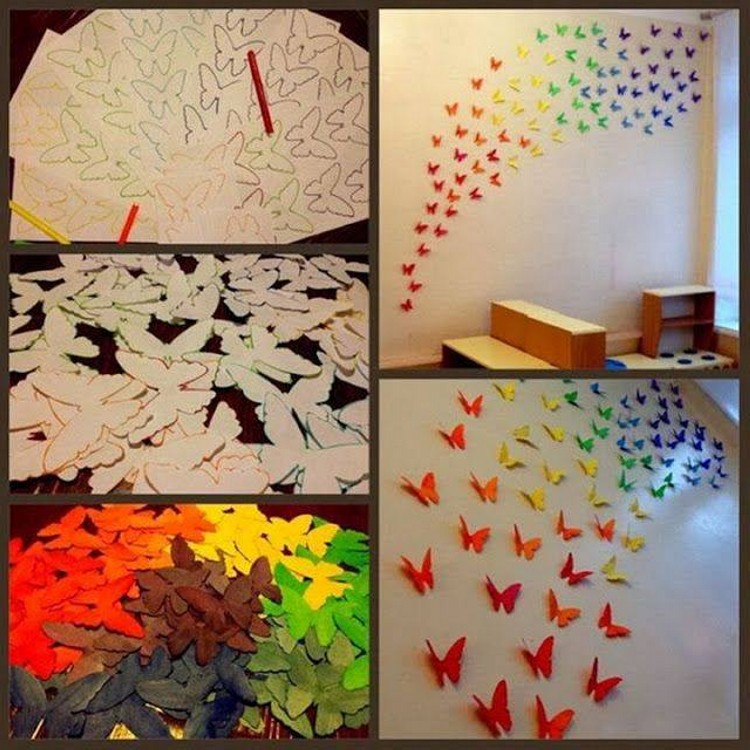 DIY Butterflies Art