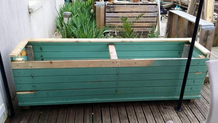 DIY Wood Shutters Flower Tubs