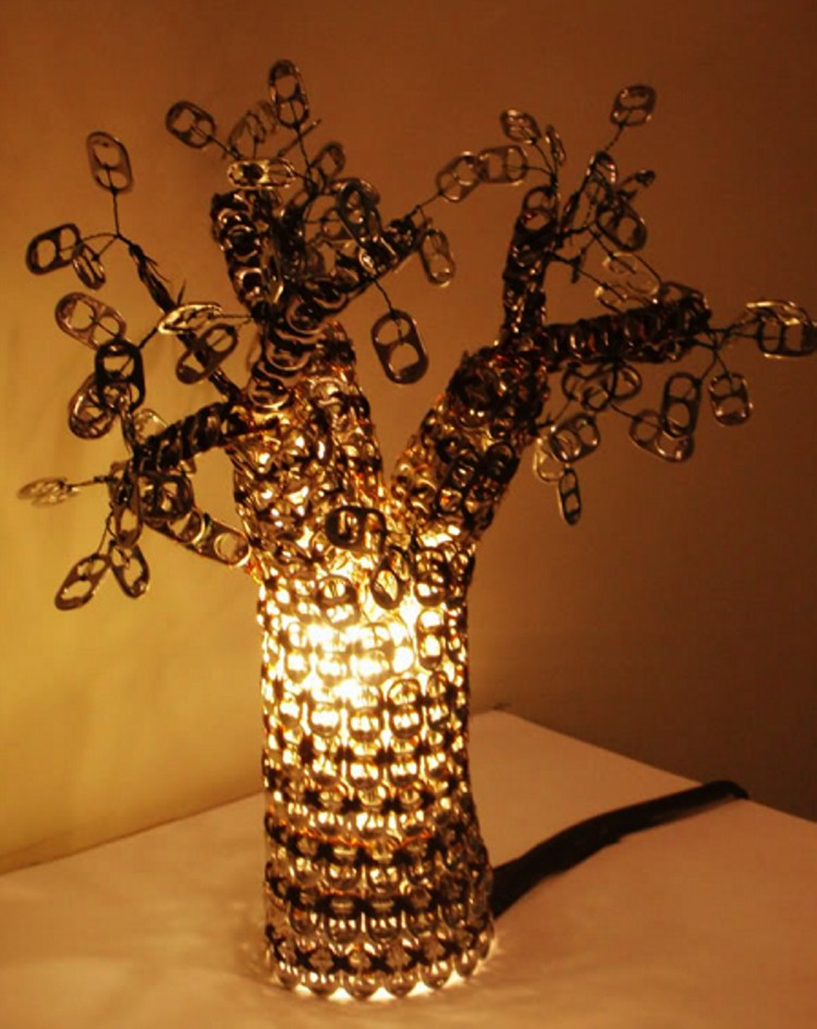 Lamp Made From Soda Can Tabs