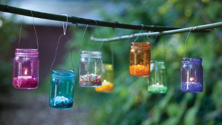 Mason Jar Hanging Lantern