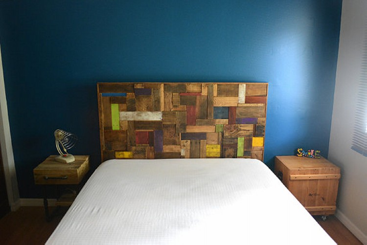 Pallets Wood Made Headboard