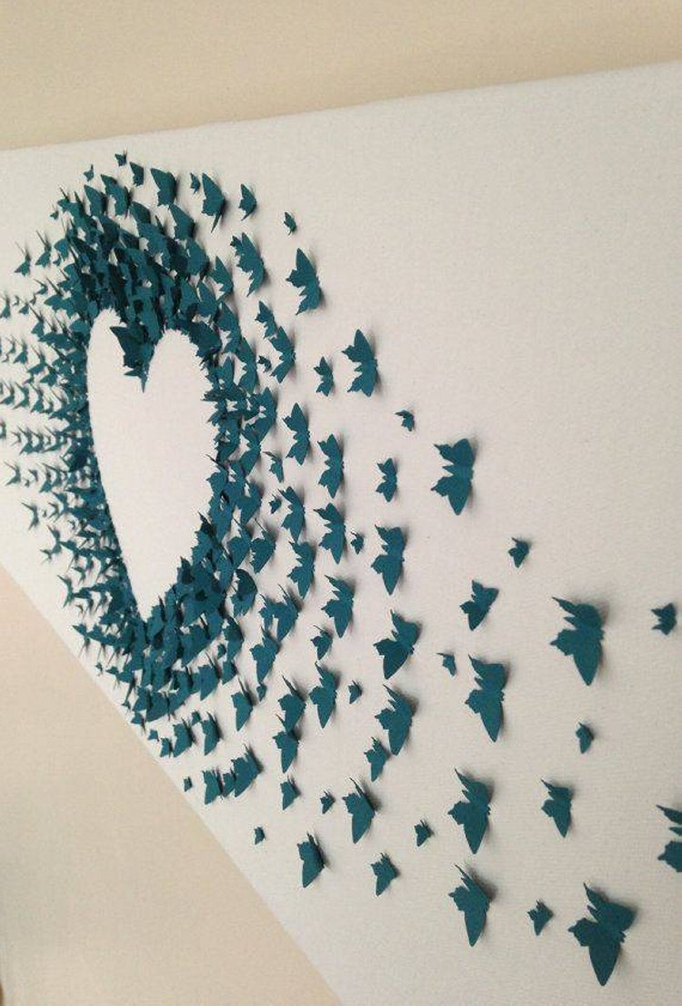 Home decor with butterflies art upcycle art for Butterflies for crafts and decoration