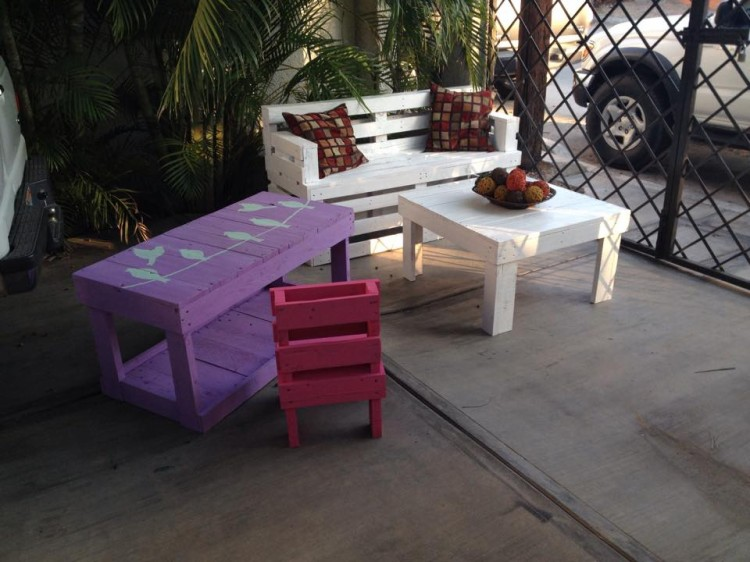 Patio Seating Furnitue from Pallets Wood