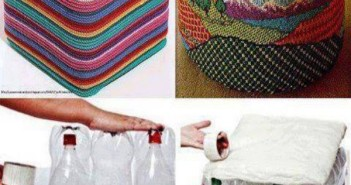 Plastic Bottles Recycled to Sitting Puff