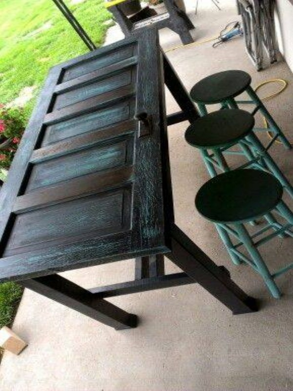 Recycle Old Wooden Door Table