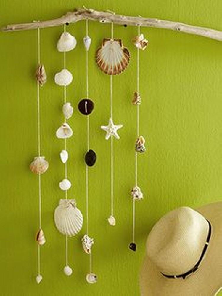 Decorative Seashell Hanging Ideas Upcycle Art