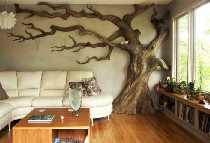 Tree Wall Art with Woods
