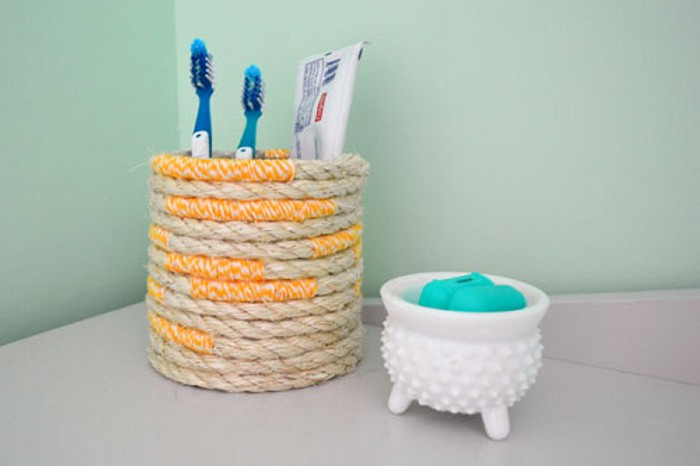 Twine Rope Toothbrush Holder