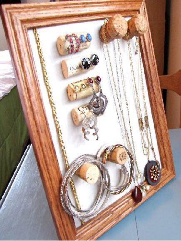 Up Cycled Jewelry Hanger Frame