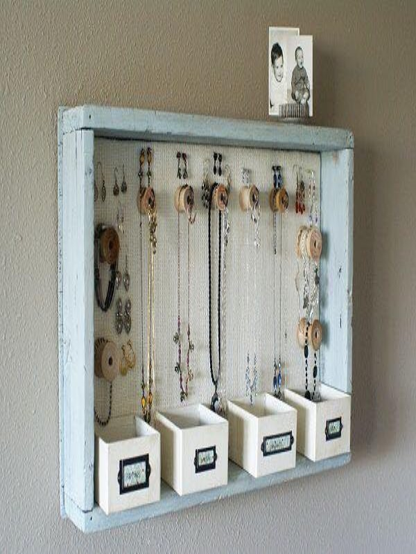 Up Cycled Pallets Wood Jewelry Hanger
