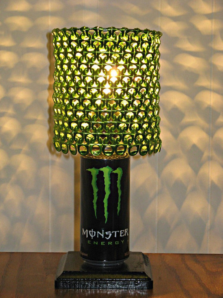 Upcycled Can Tabs Lamp