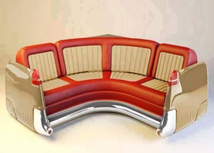 Upcycled Old Car Parts Sofa