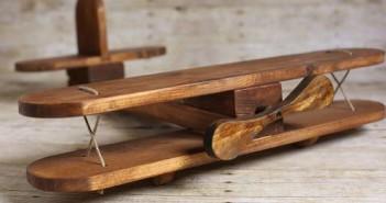 Upcycled Wood Airplane