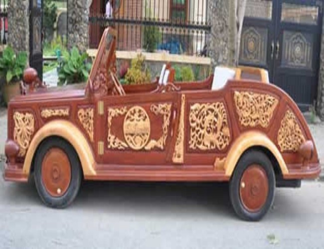 Wood Made Cute Car