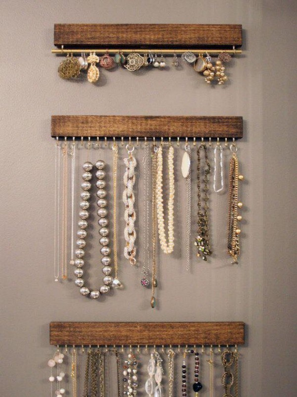 Wooden Up Cycled Jewelry Hangers