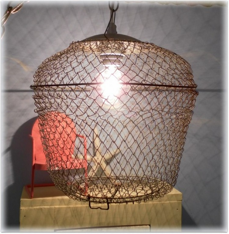 bait cage pendant light