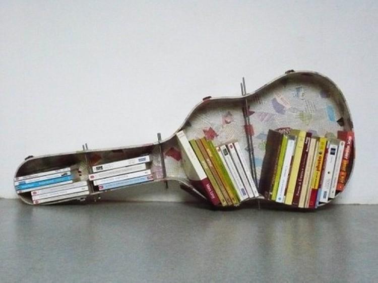 guitar book shelf