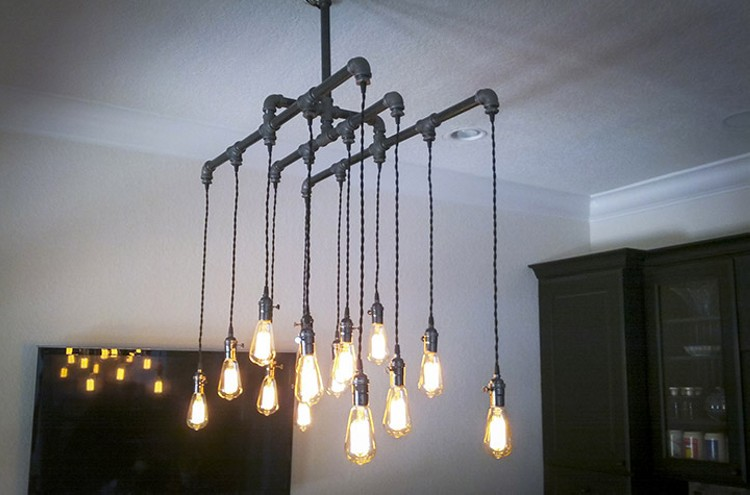 industrial chandelier diy