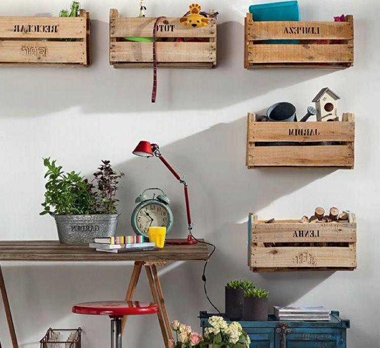 wooden palette boxes shelves