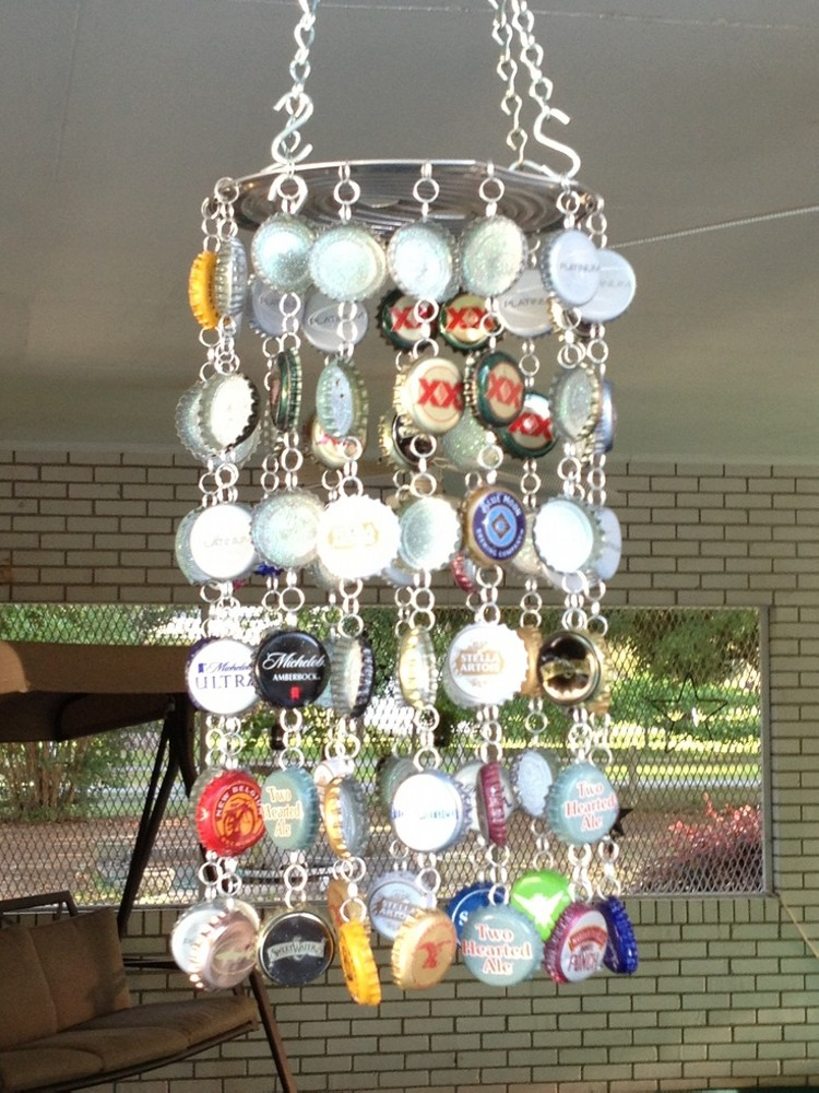 Upcycled Bottle Cap Art Works Upcycle Art