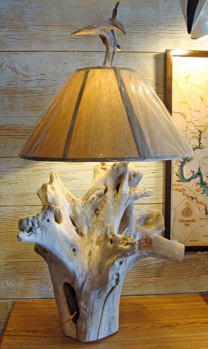 Cedar Driftwood Lamp