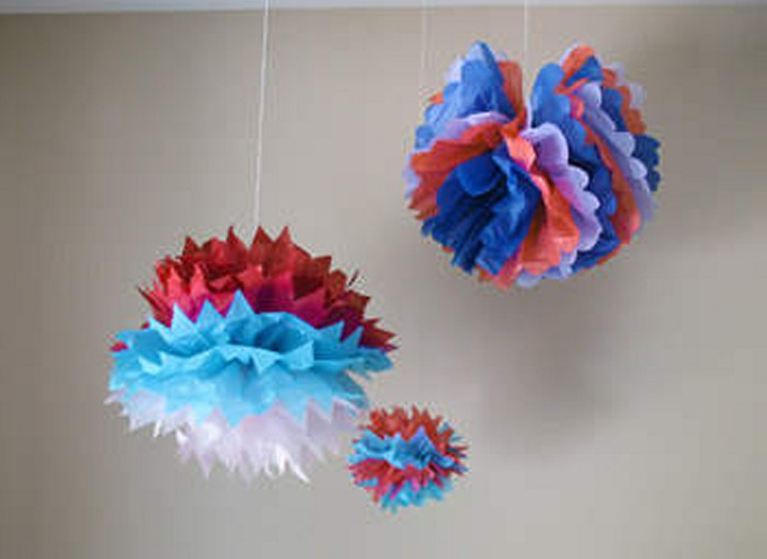 Colorful Tissue Paper Crafts