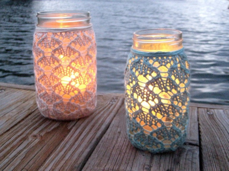 Cute Mason Jars Candles