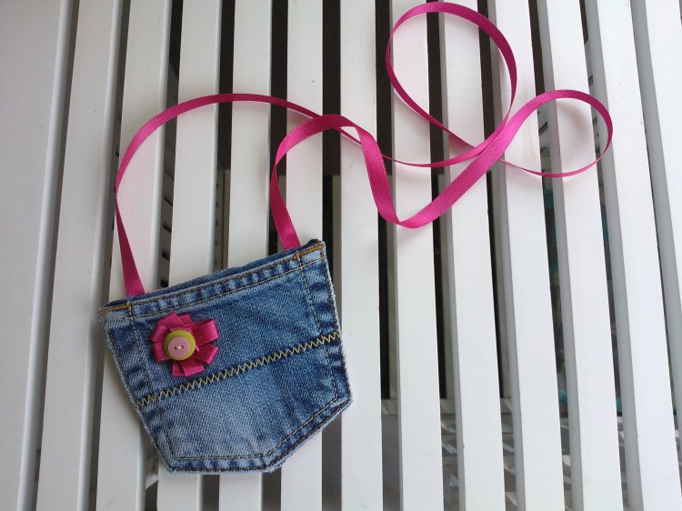 Denim jeans upcycled purse