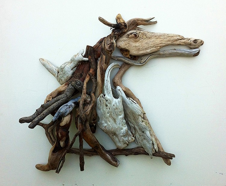 Driftwood up cycled art upcycle art Driftwood sculptures for garden