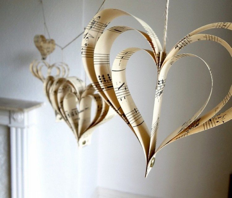 Heart Decorations from Papers