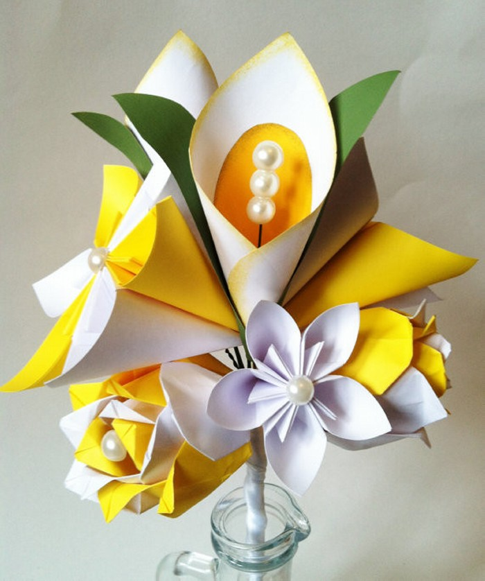 Lily Paper Flower Bouquet