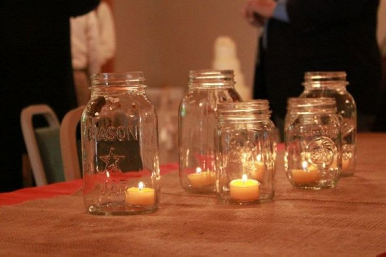 Mason Jars Candles Art Upcycle Art