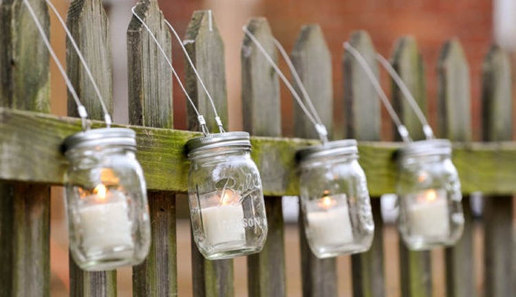 Mason Jars Candle Ideas