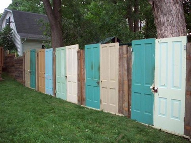 Old Doors Repurposed Fences