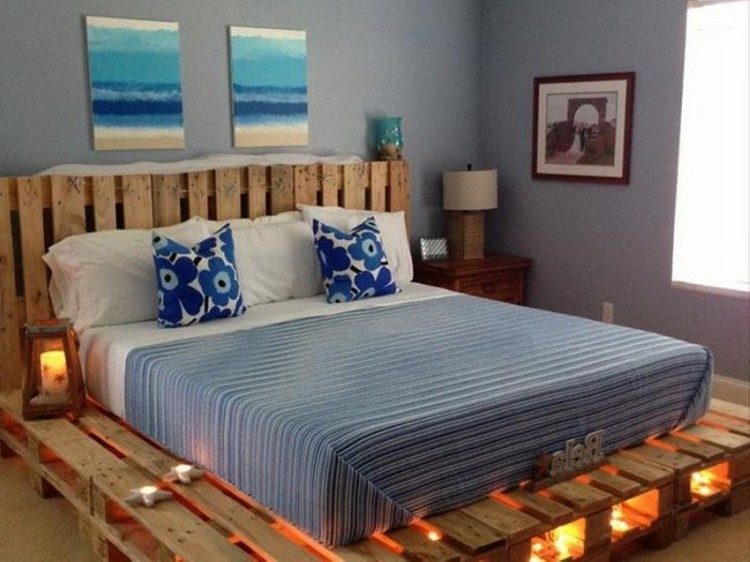 ... Bed Headboards Pallets Bed Lights Pallets Headboards Pallets Made Beds