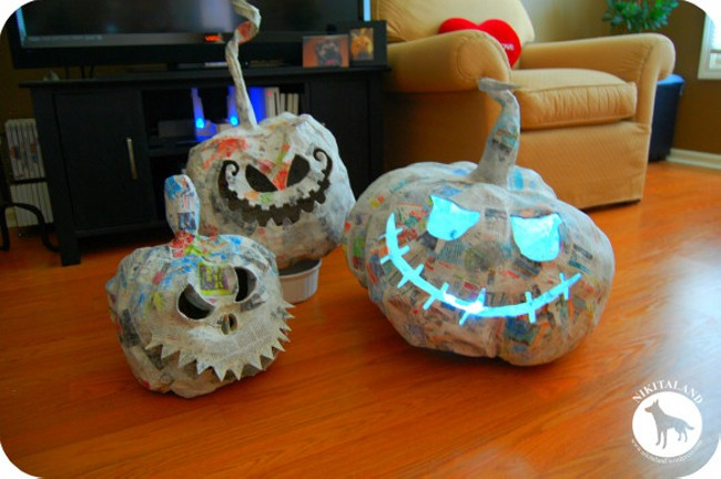 Paper Mache Crafts For Halloween