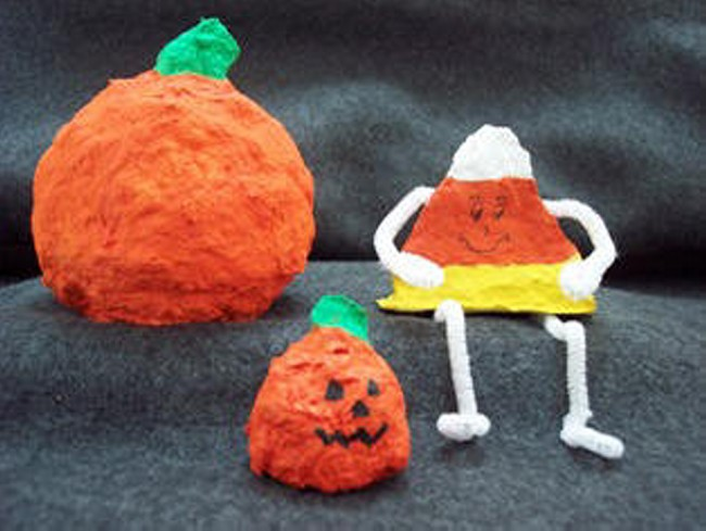 Paper Mache Pumpkin