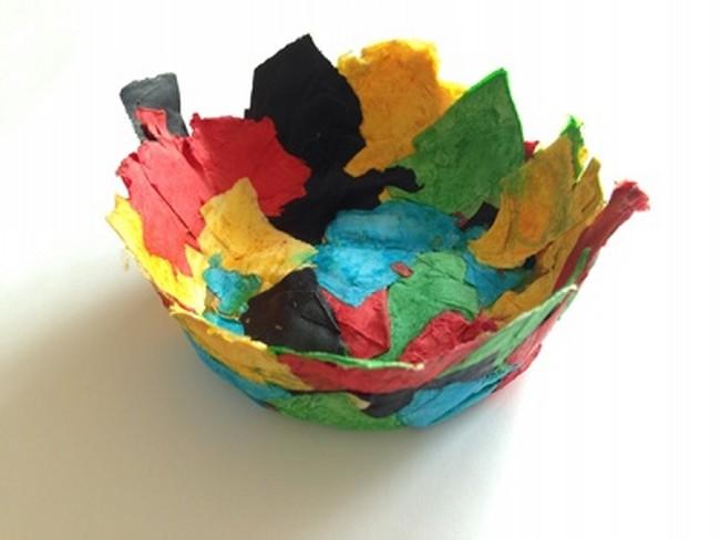Paper mâché bowl