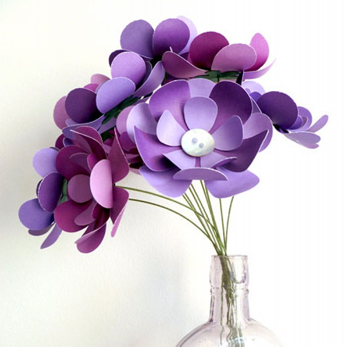 Purple Paper Flowers Bouquet