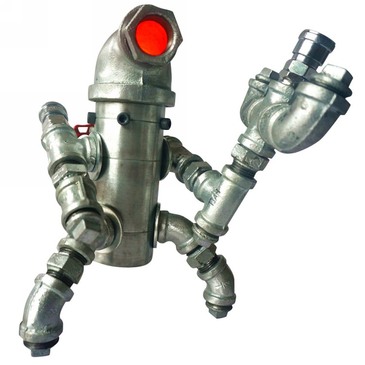 Robot From Plumbing Water Pipe