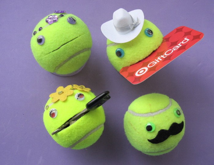 Smiley face tennis balls