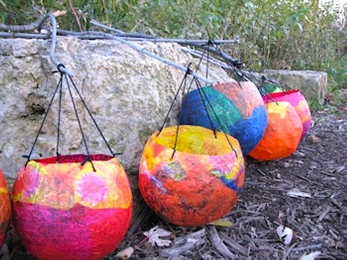 Tissue paper recycled crafts upcycle art for Recycled paper lantern
