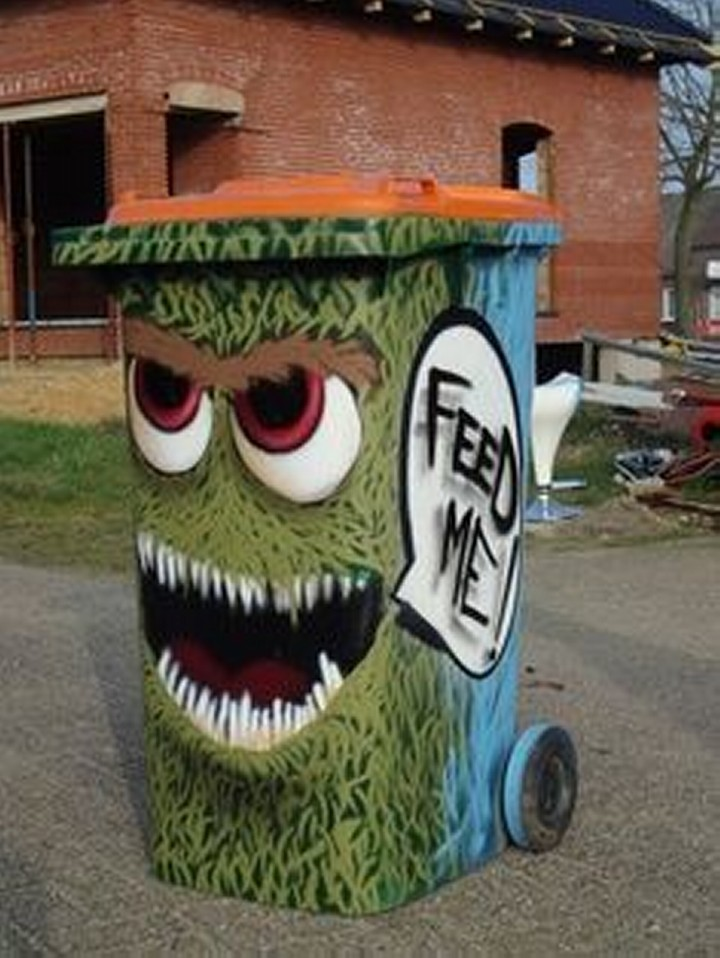 Trash Can Art Design