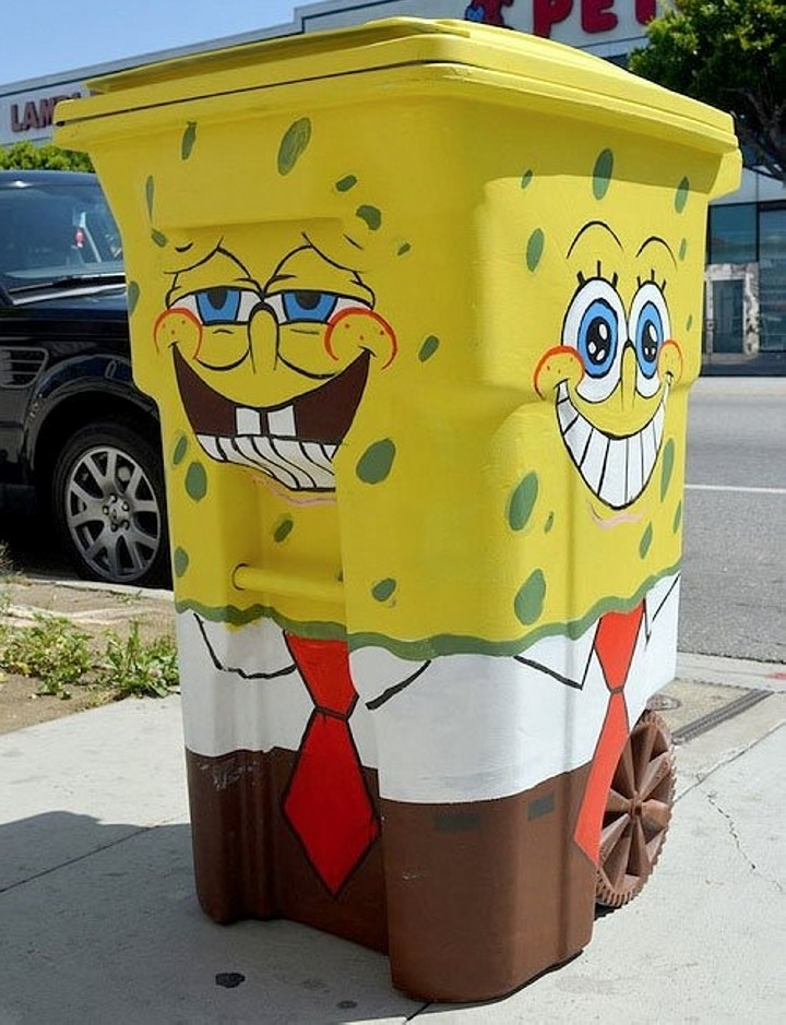 Trash Can Street Art