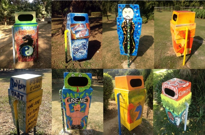 Trash Can Street Art Upcycle Art