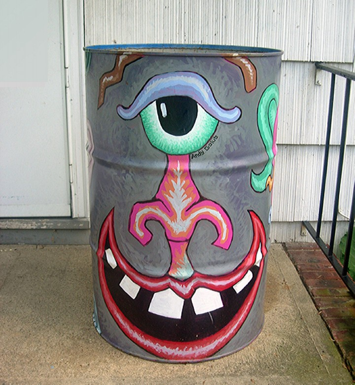 Trash Cans Street Art Ideas