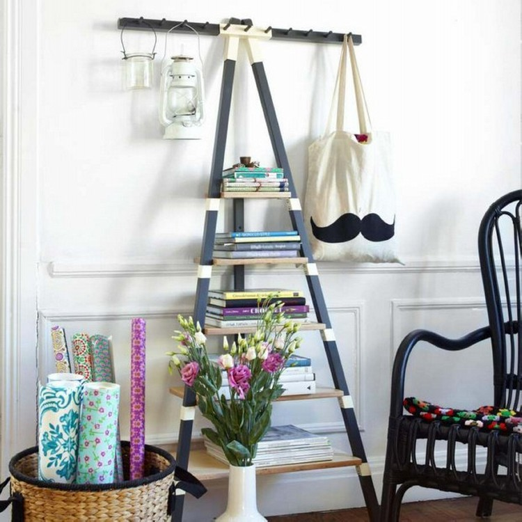 Upcycled Ladder Shelving