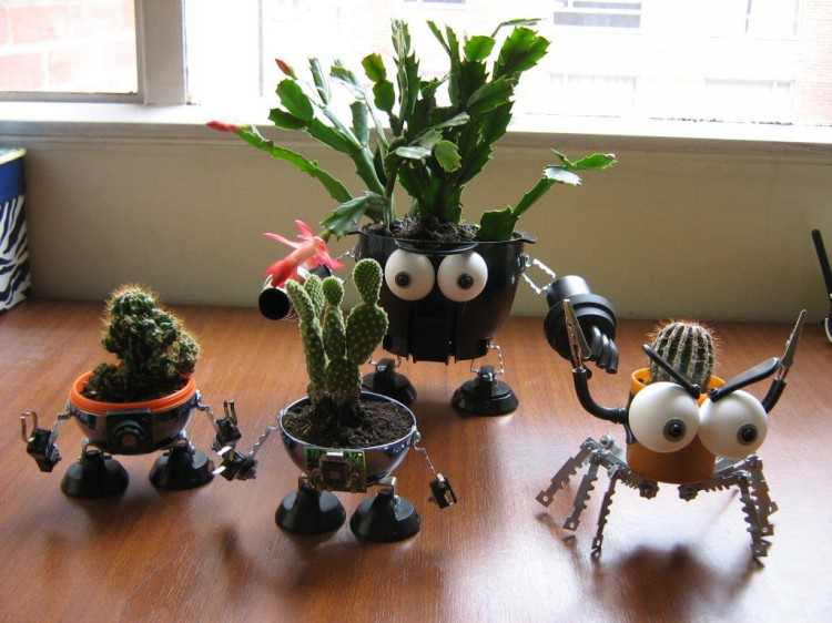 Upcycled Robo Planters
