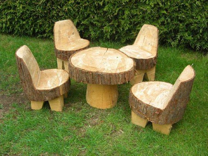 Upcycled Tree Trunks Furniture
