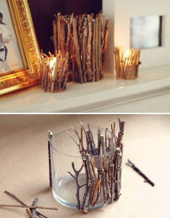 Wood and Glass Candles